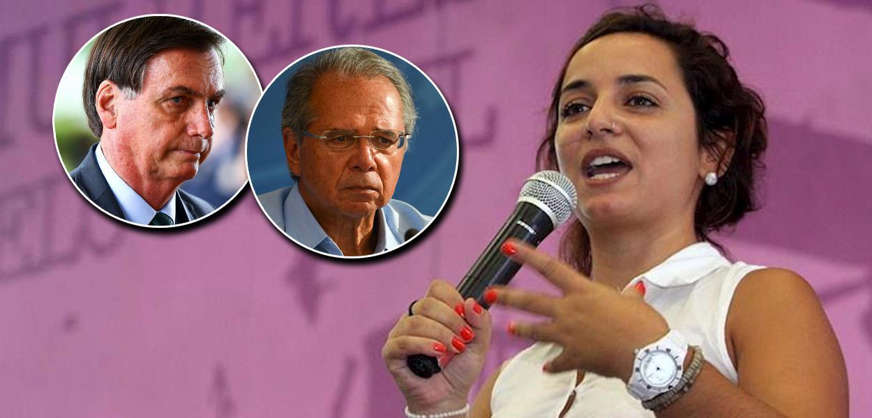 Jair Bolsonaro, Paulo Guedes e Juliane Furno