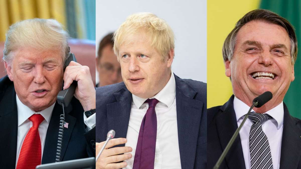 Donald Trump, Boris Johnson e Jair Bolsonaro