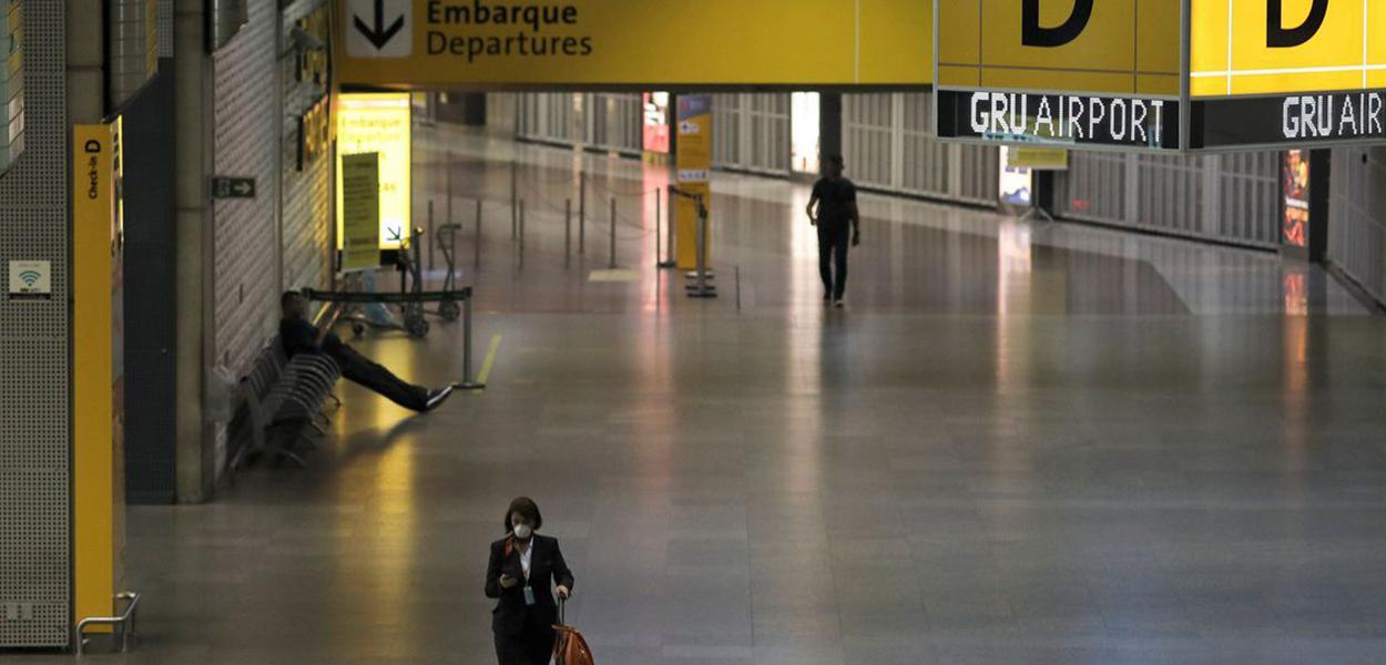 Aeroporto de Guarulhos durante a pandemia