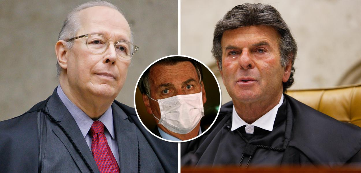 Celso de Mello, Bolsonaro e Luiz Fux