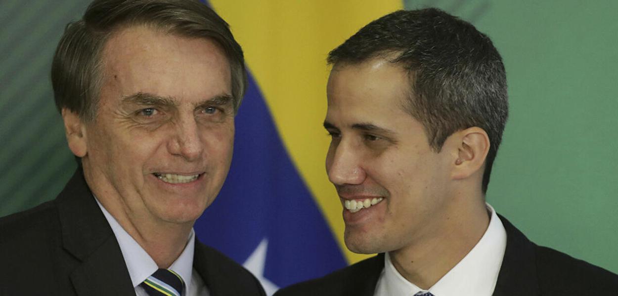Jair Bolsonaro e Juan Guaidó