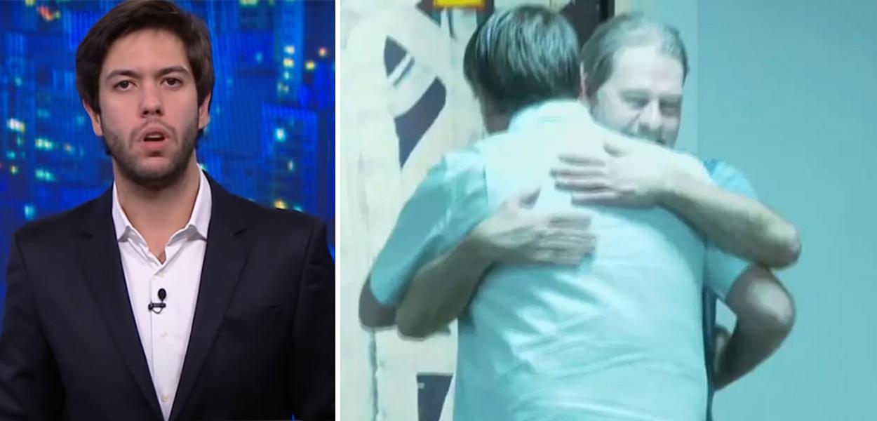 Caio Coppola e Bolsonaro abraçando Dias Toffoli