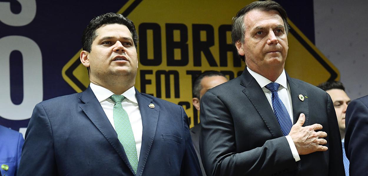 Davi Alcolumbre e Jair Bolsonaro