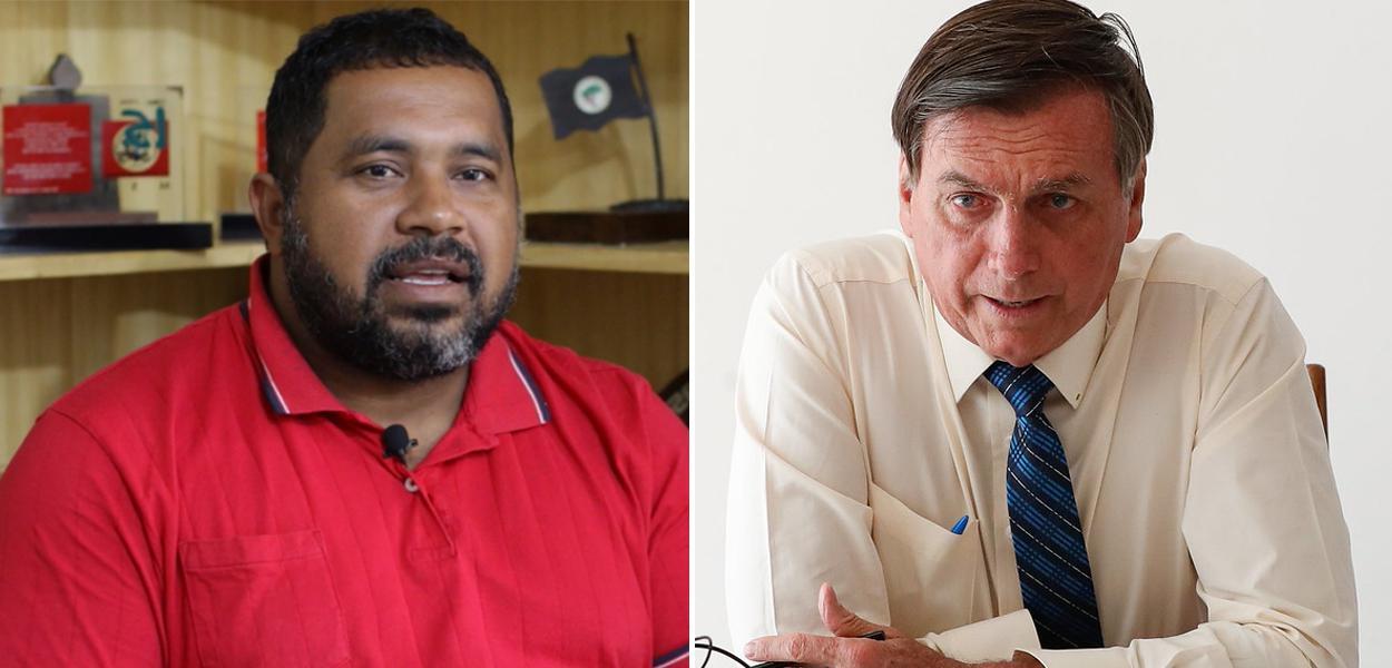 João Paulo Rodrigues e Jair Bolsonaro