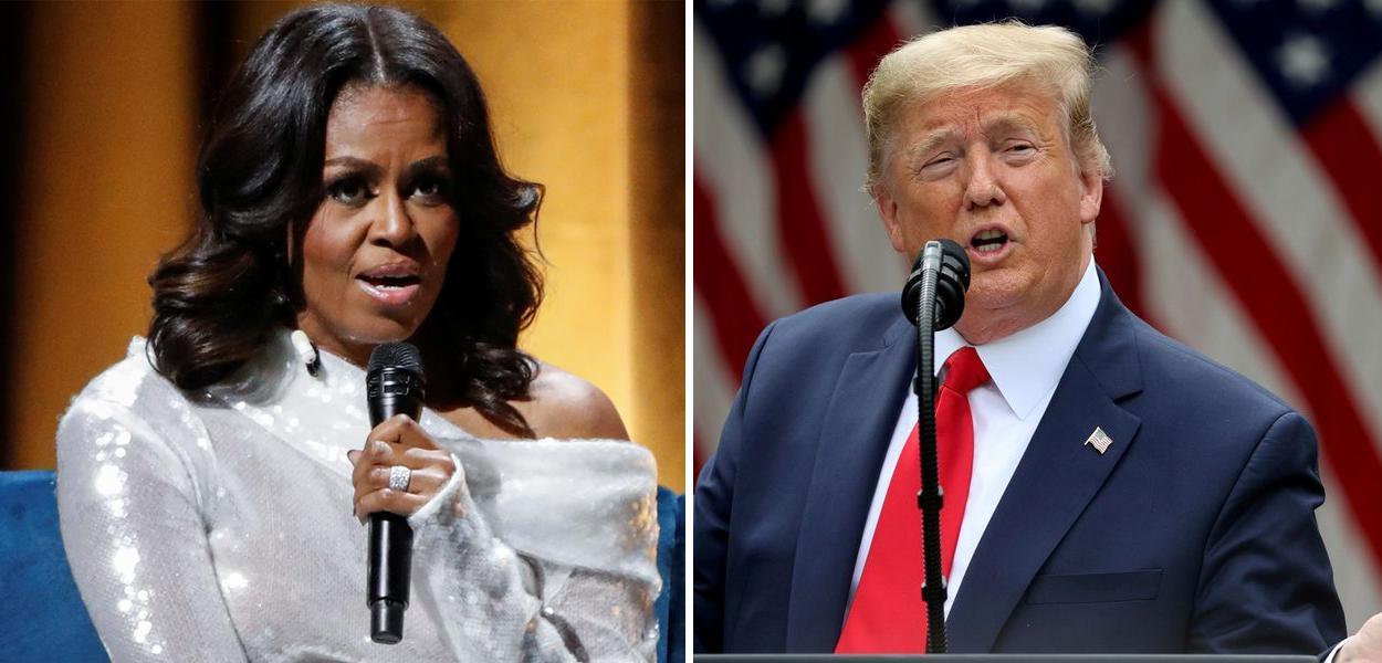 Michelle Obama e Donald Trump