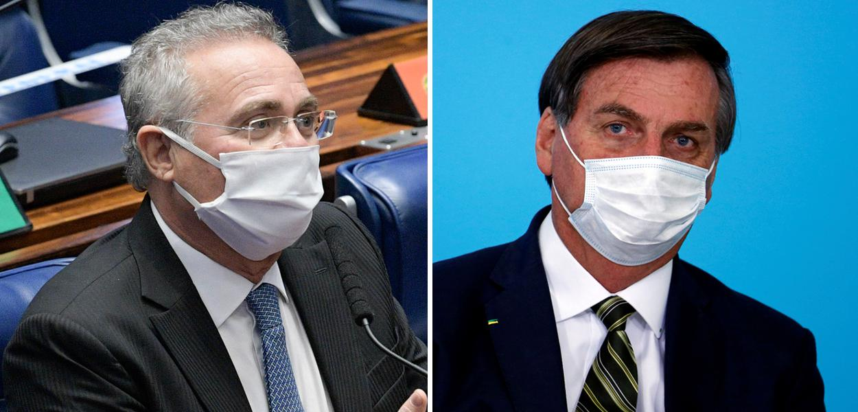 Renan Calheiros e Jair Bolsonaro