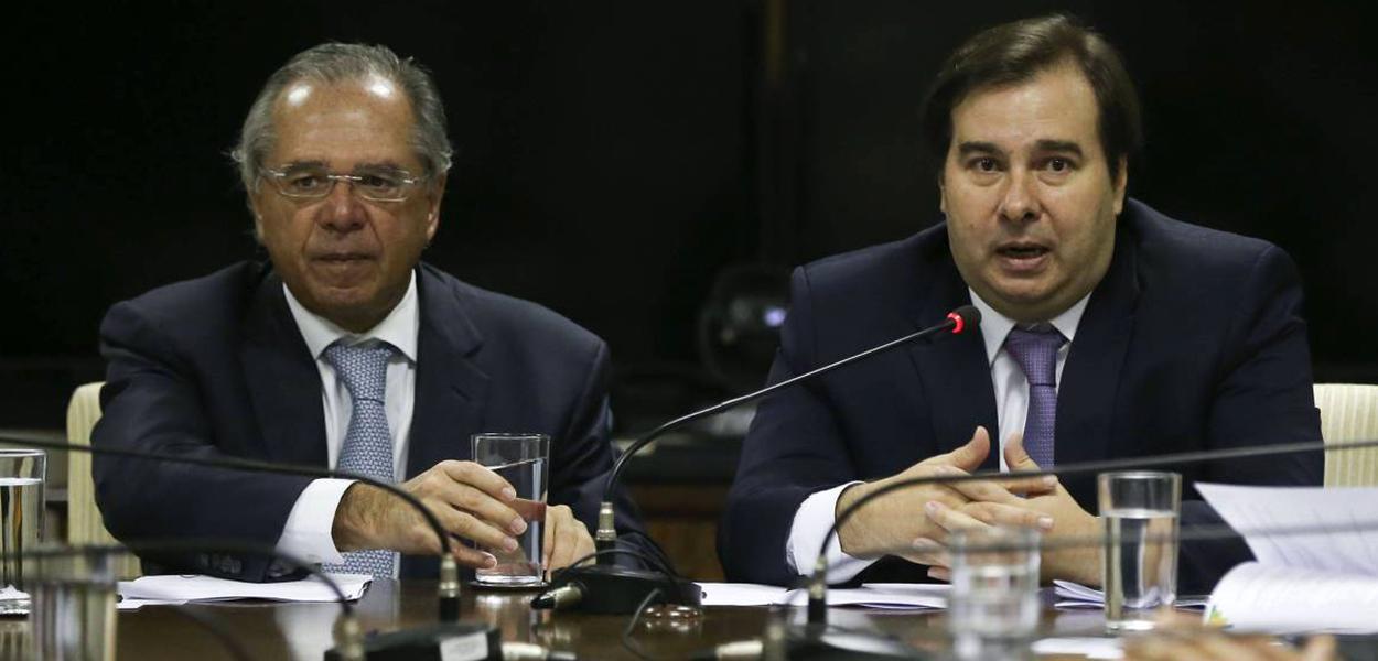 Paulo Guedes e Rodrigo Maia