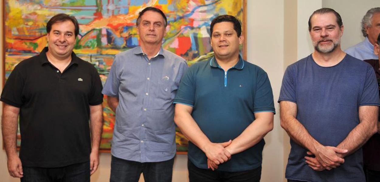Maia, Bolsonaro, Davi Alcolumbre e Dias Toffoli