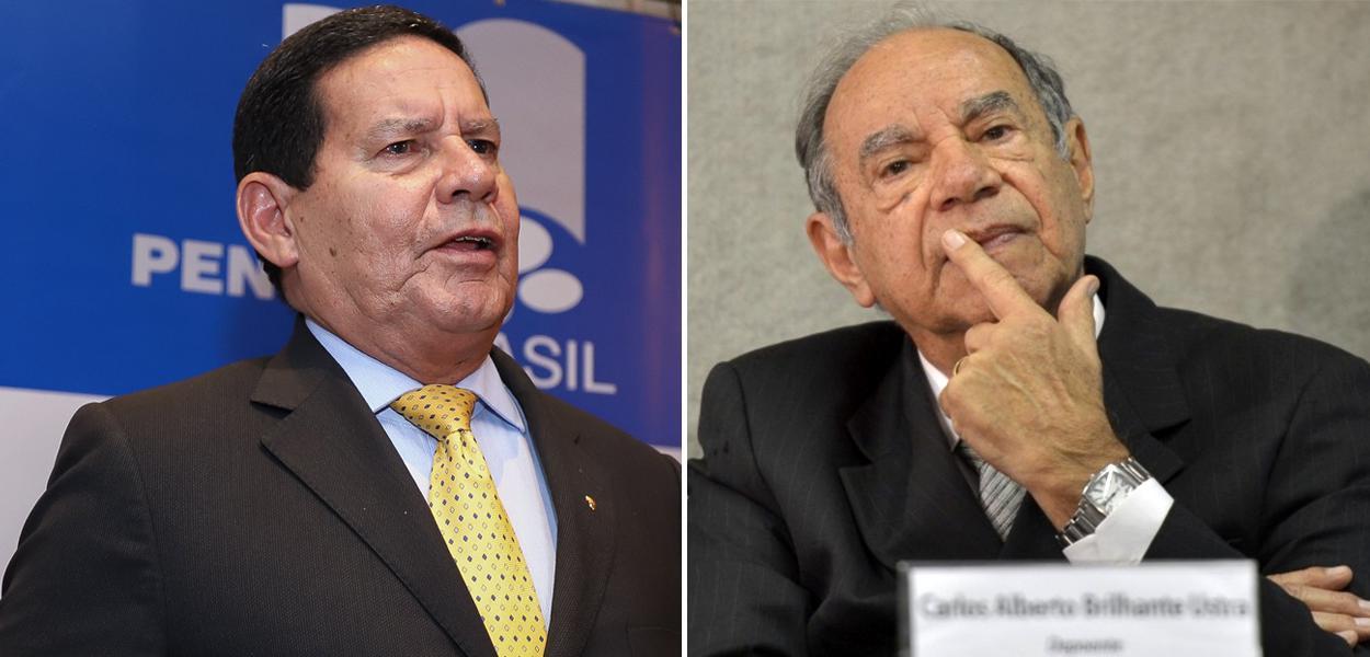 Hamilton Mourão e Carlos Alberto Brilhante Ustra