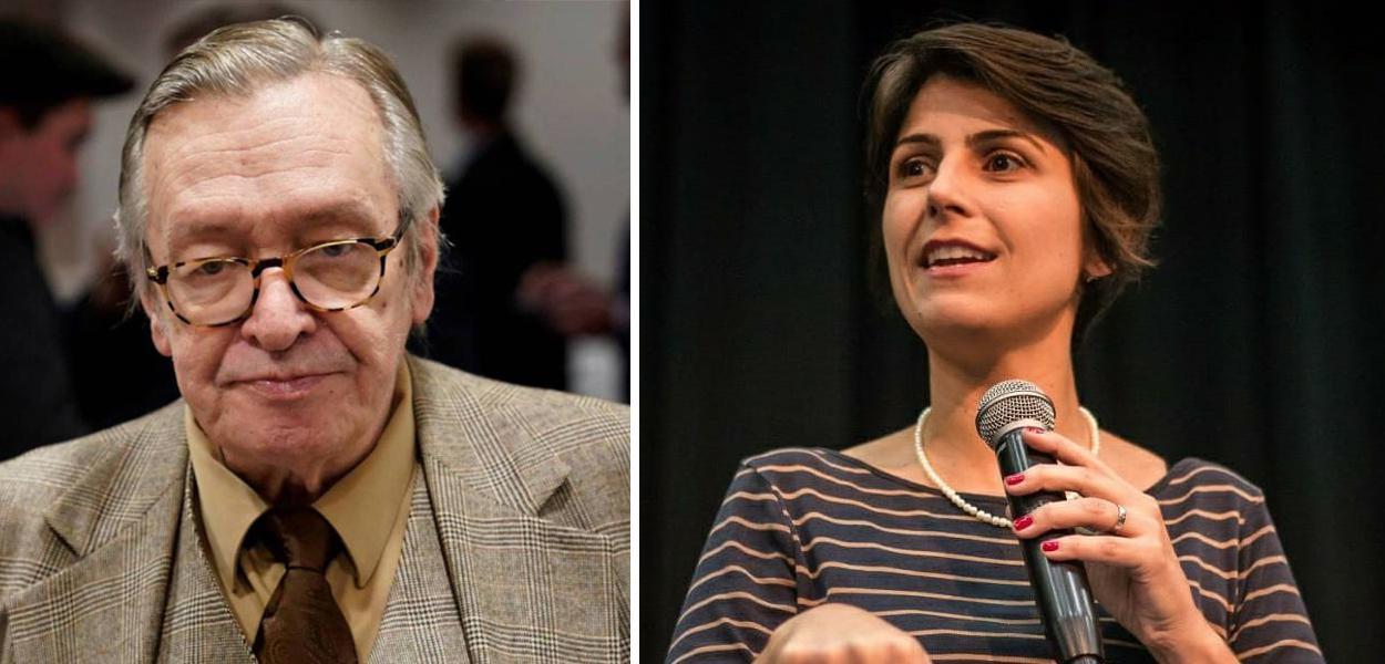 Olavo de Carvalho e Manuela D'Ávila