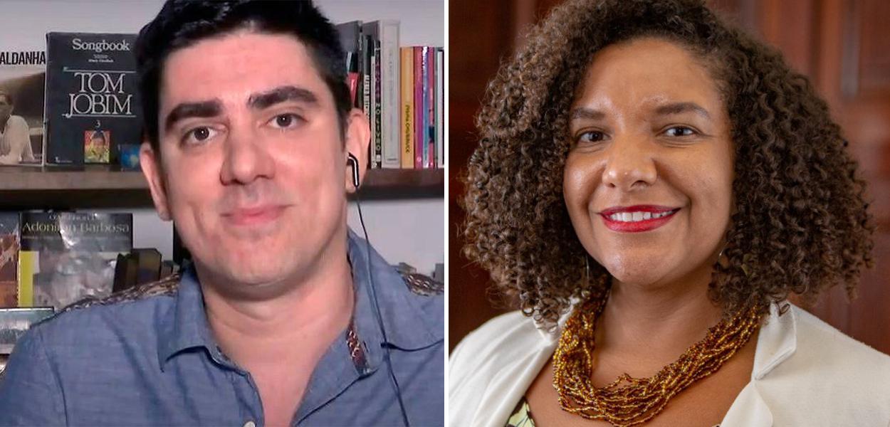 Marcelo Adnet e Renata Souza