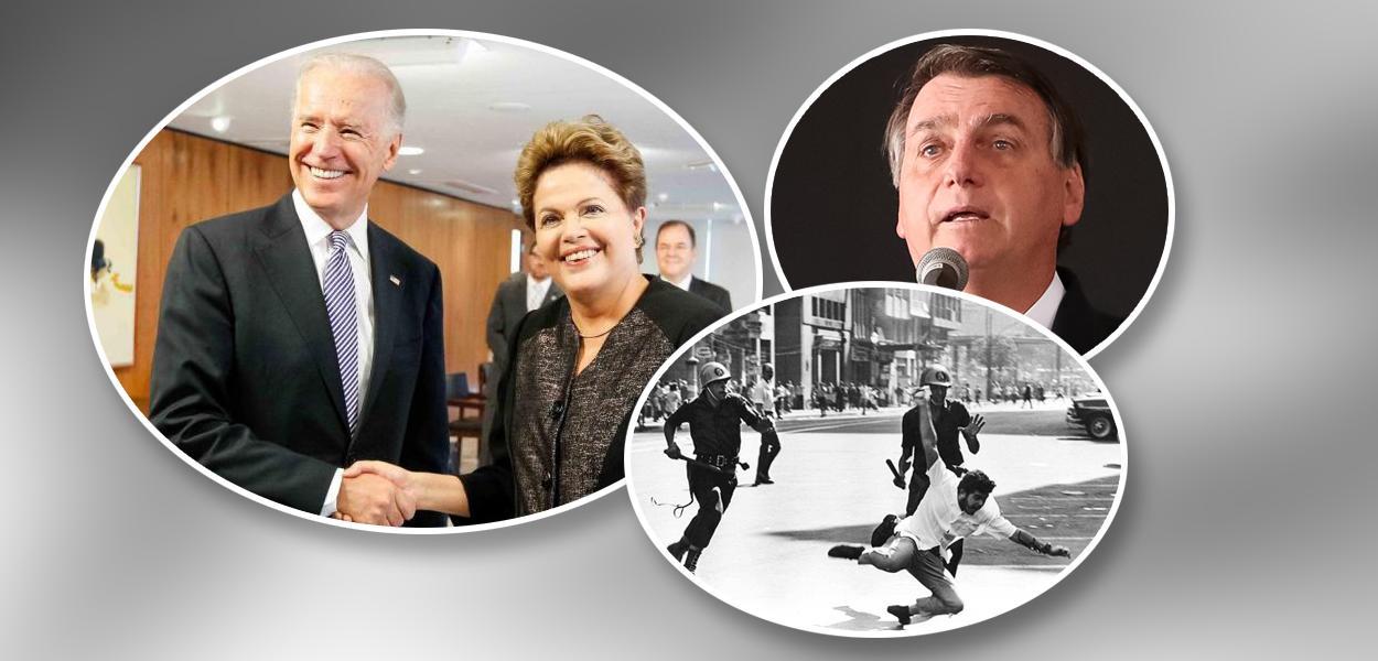 Joe Biden com Dilma Rousseff. Bolsonaro e cena da ditadura no Brasil