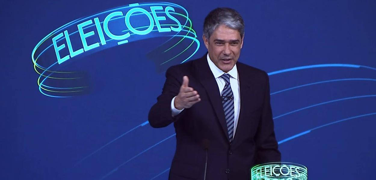 William Bonner em debate na TV Globo