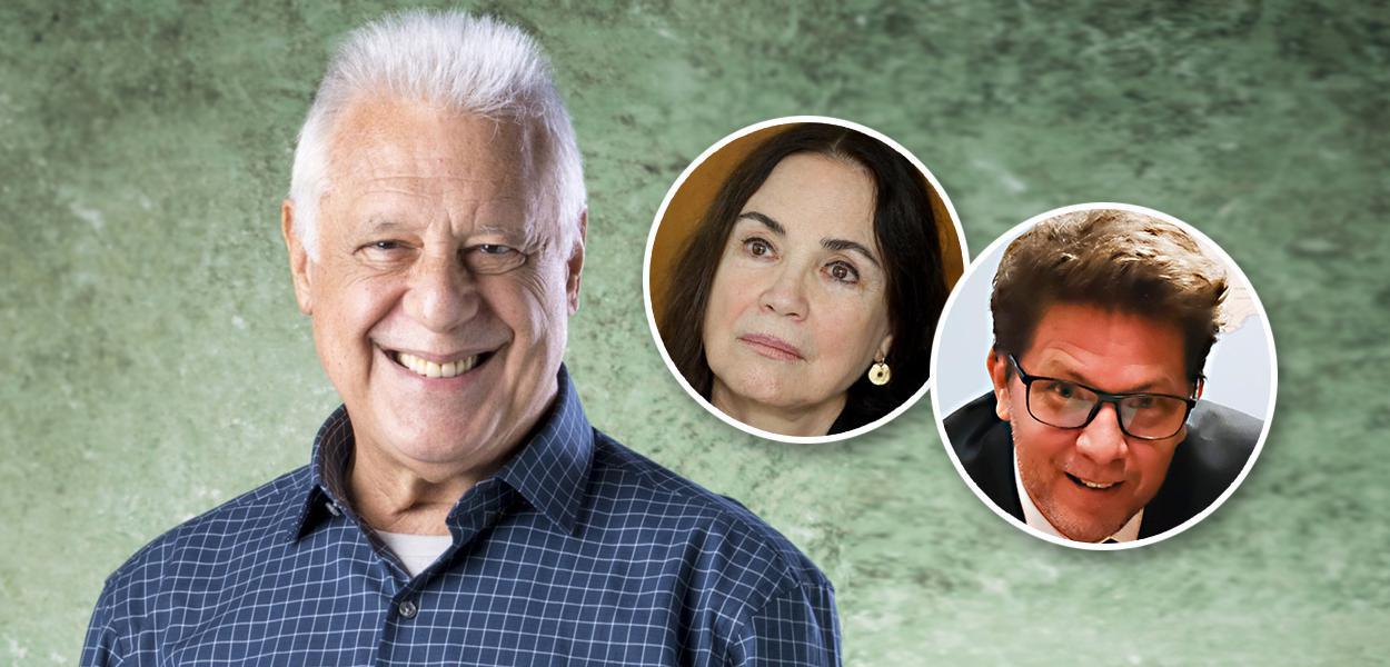 Antonio Fagundes, Regina Duarte e Mário Frias