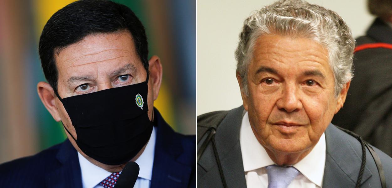 Hamilton Mourão e Ministro Marco Aurélio