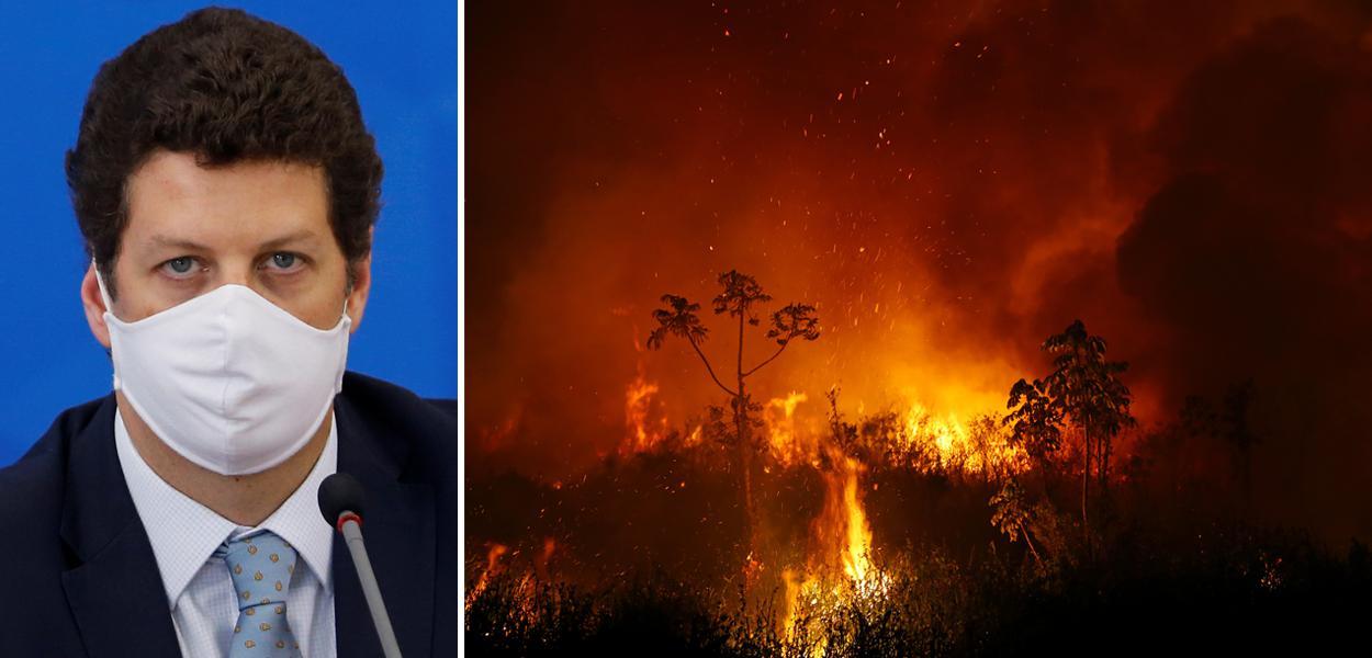 Ricardo Salles e Pantanal em chamas