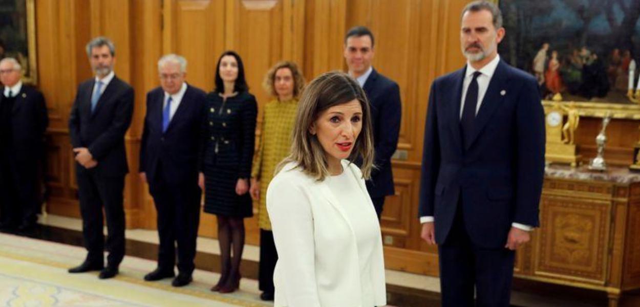 Ministra do Trabalho da Espanha, Yolanda Díaz, em Madri