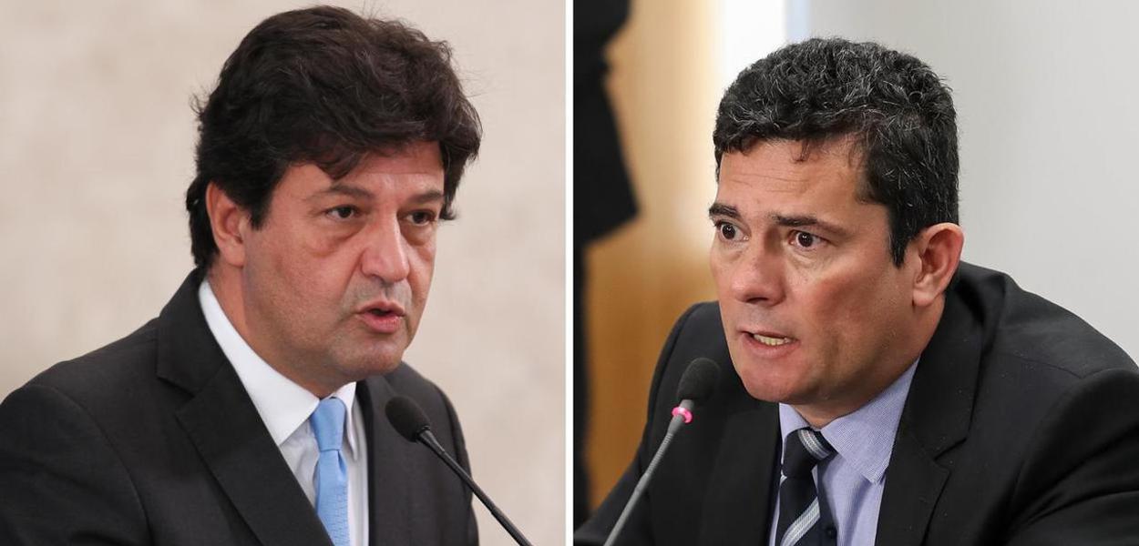 Luiz Henrique Mandetta e Sergio Moro