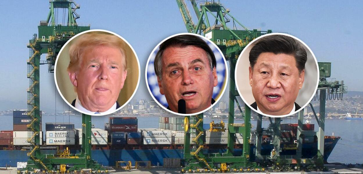 Trump, Bolsonaro e Xi Jinping