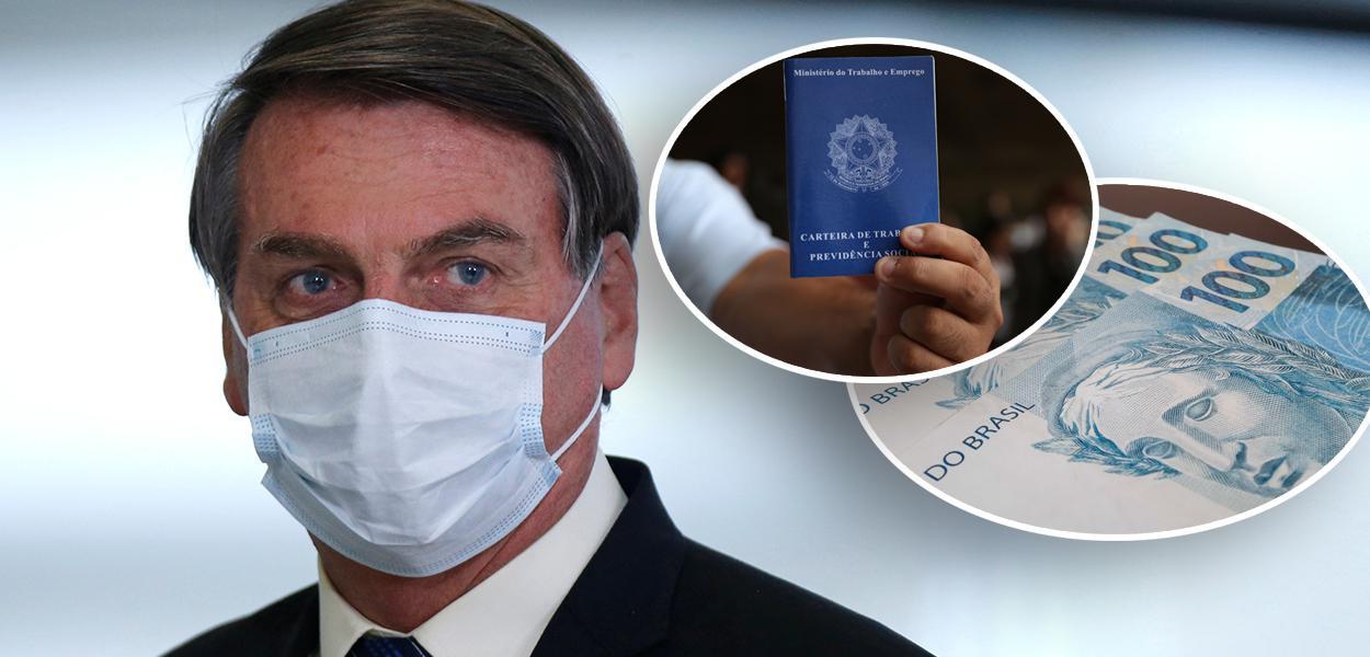 Jair Bolsonaro, carteira de trabalho e dinheiro