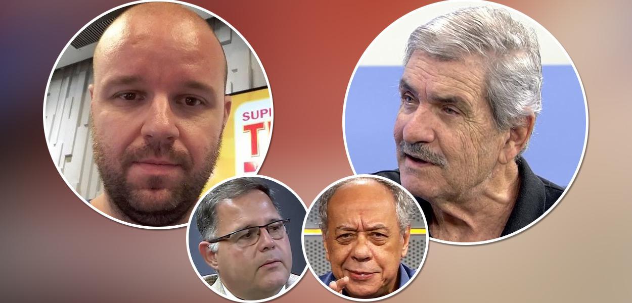 André Marques, Márcio Guedes; em menor destaque Luis Costa Pinto e José Trajano