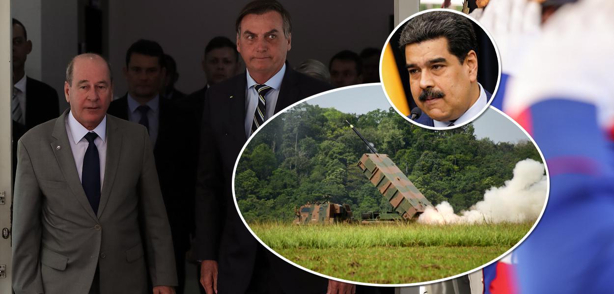 Fernando Azevedo, Bolsonaro e Nicolás Maduro