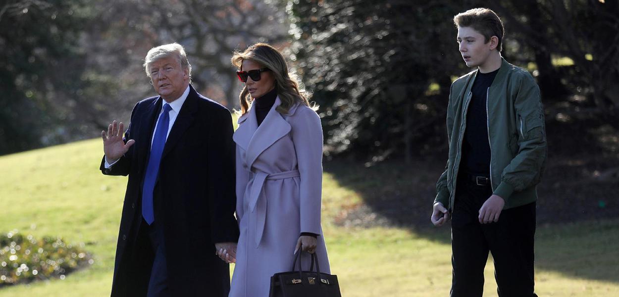 Donald Trump, Melania e Barron