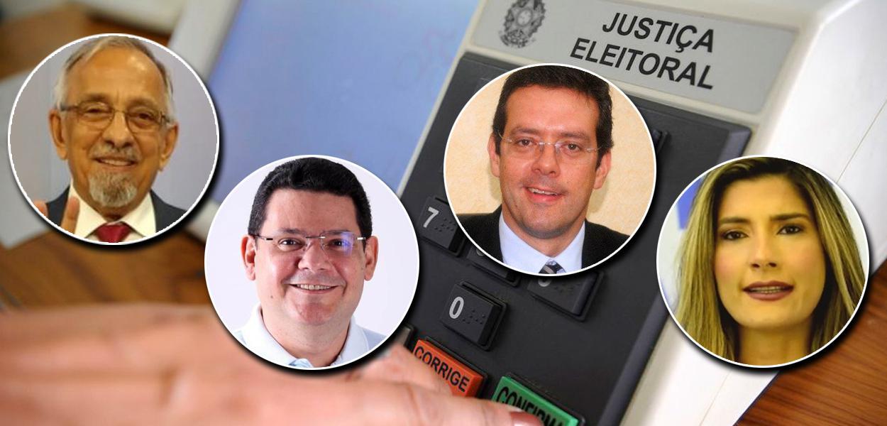 João Capiberibe, o Capi (PSB), Josiel (DEM), Dr Furlan (Cidadania) e Patrícia Ferraz (Podemos)