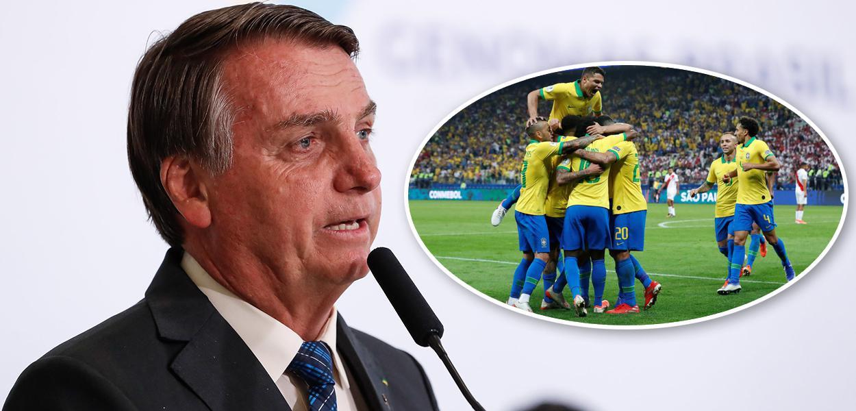 Jair Bolsonaro e jogo da seleção