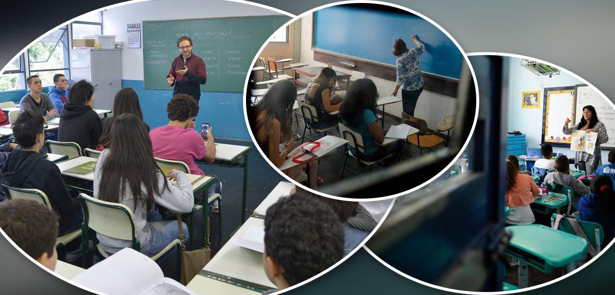 Professores em sala de aula