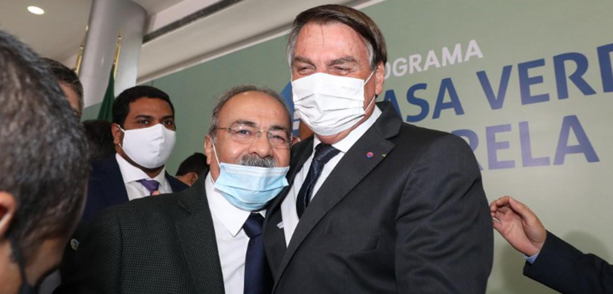 Chico Rodrigues e Jair Bolsonaro
