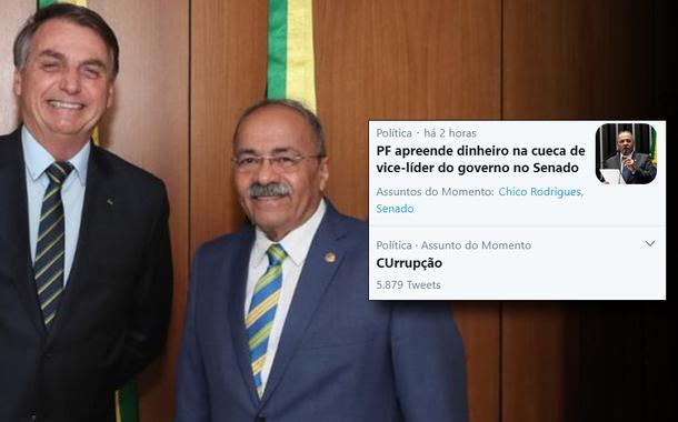 Chico Rodrigue e Bolsonaro