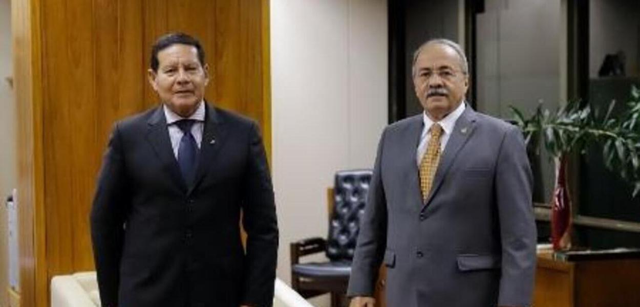 Hamilton Mourão e Chico Rodrigues