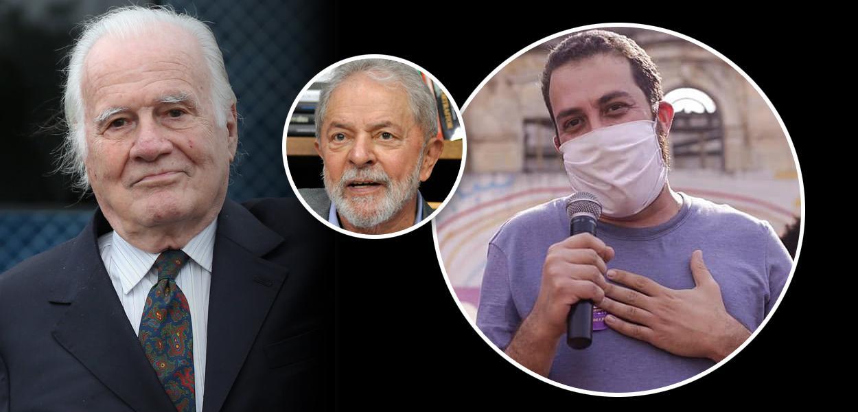 Mino Carta, Lula e Guilherme Boulos
