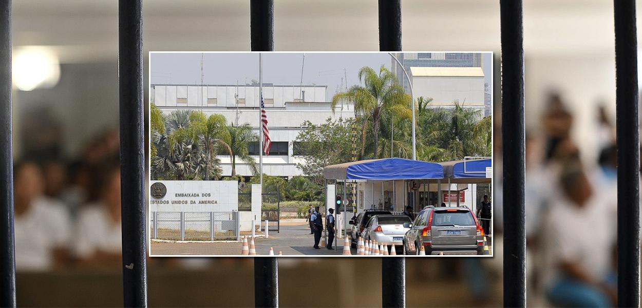 Embaixada americana no Brasil emite alerta sobre a saída de presos