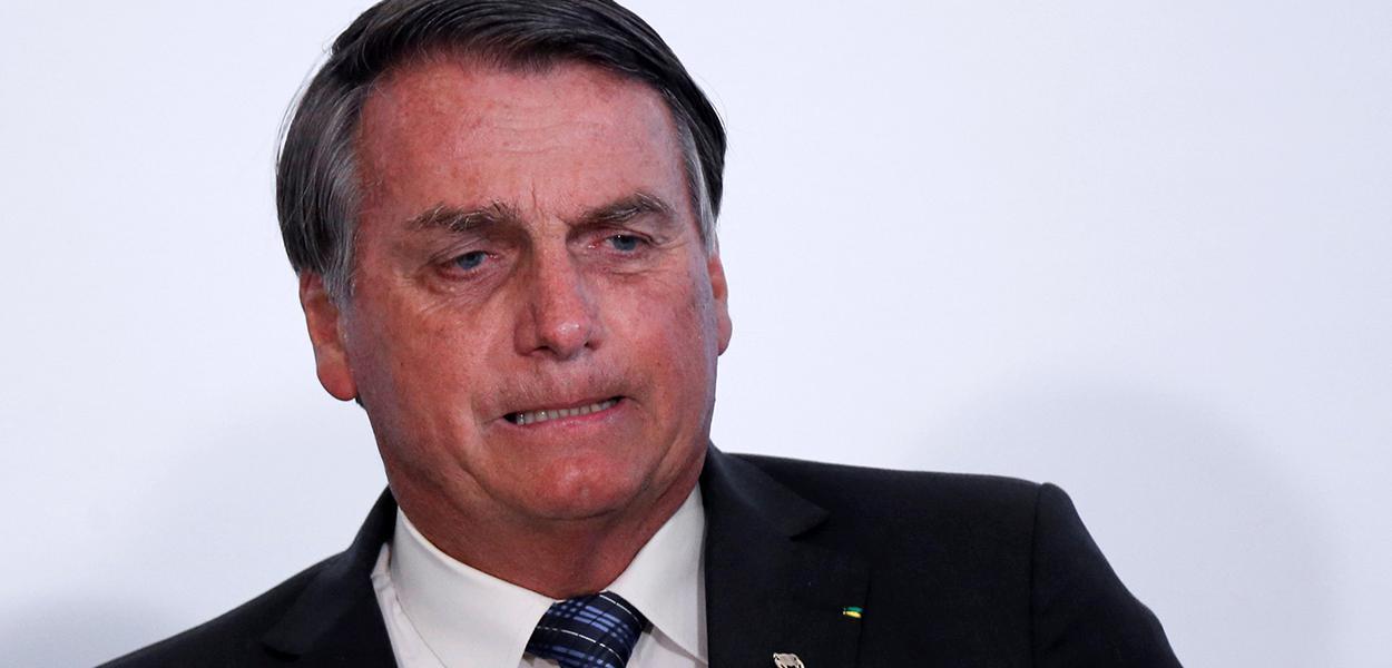 Presidente Jair Bolsonaro durante cerimônia no Palácio do Planalto. 14/10/2020