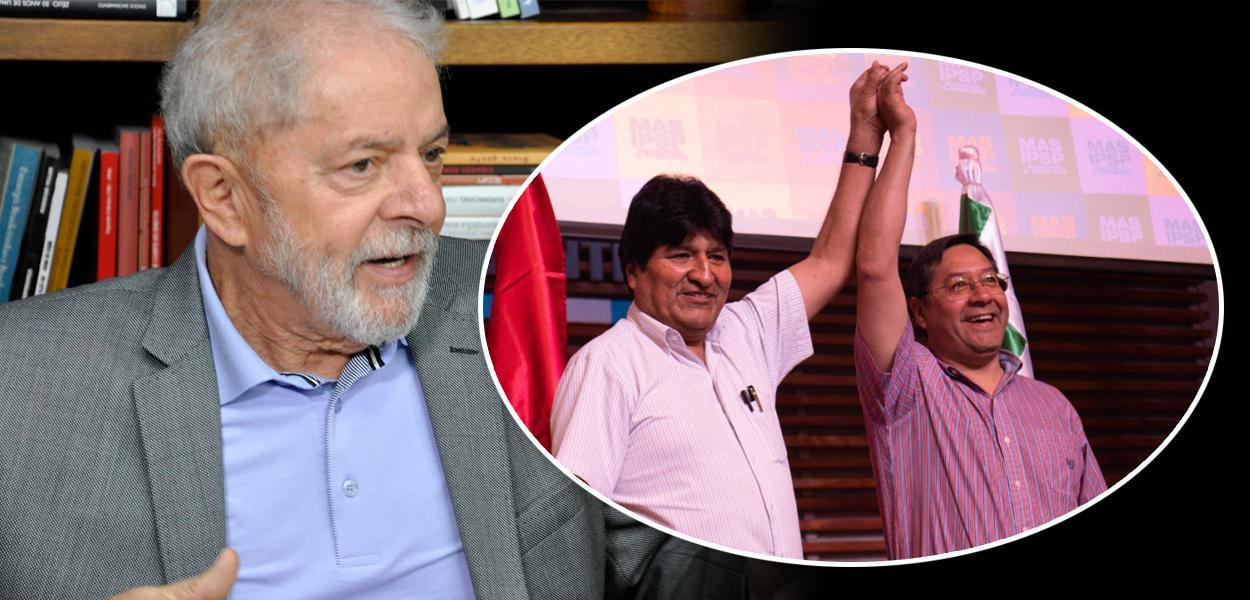 Lula e Evo Morales com Luis Arce