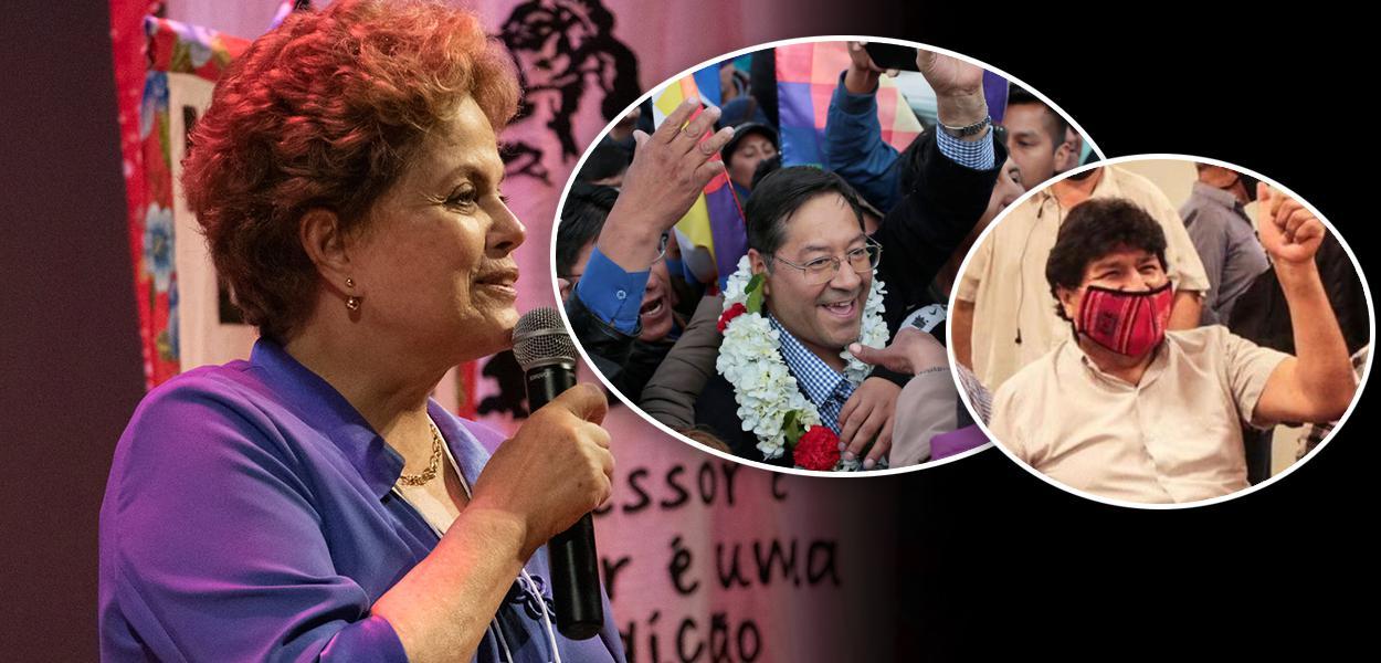 Dilma, Luis Arce e Evo Morales
