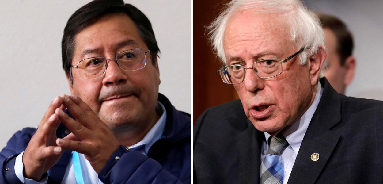 Luis Arce e Bernie Sanders