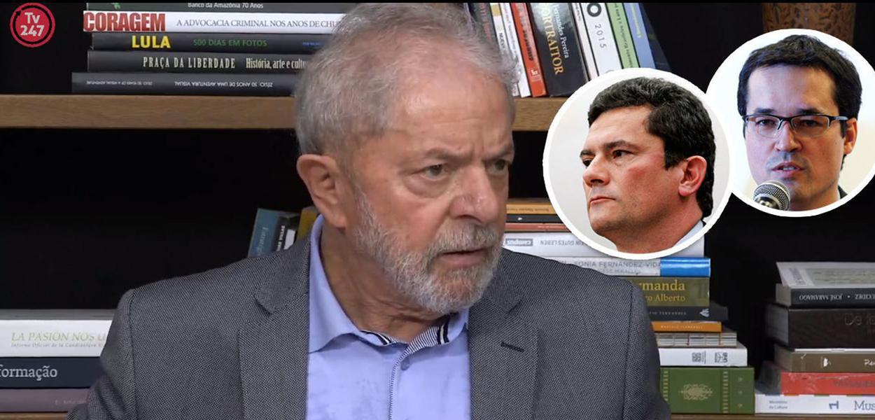 Lula, Sérgio Moro e Deltan Dallagnol