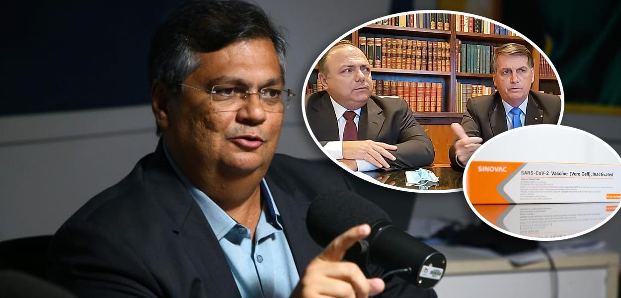 Flávio Dino, Pazuello com Bolsonaro e Coronavac