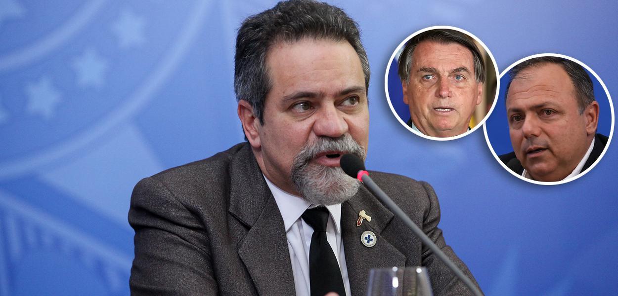 Élcio Franco, Bolsonaro e Pazuello