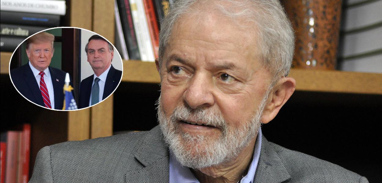 Donald Trump, Jair Bolsonaro e o ex-presidente Lula