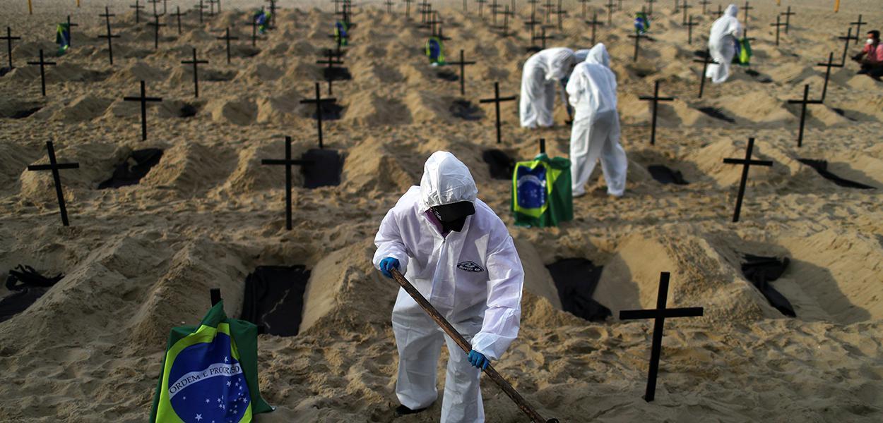 Ato da ONG Rio de Paz para lembrar as mortes pela Covid-19. 11/06/2020