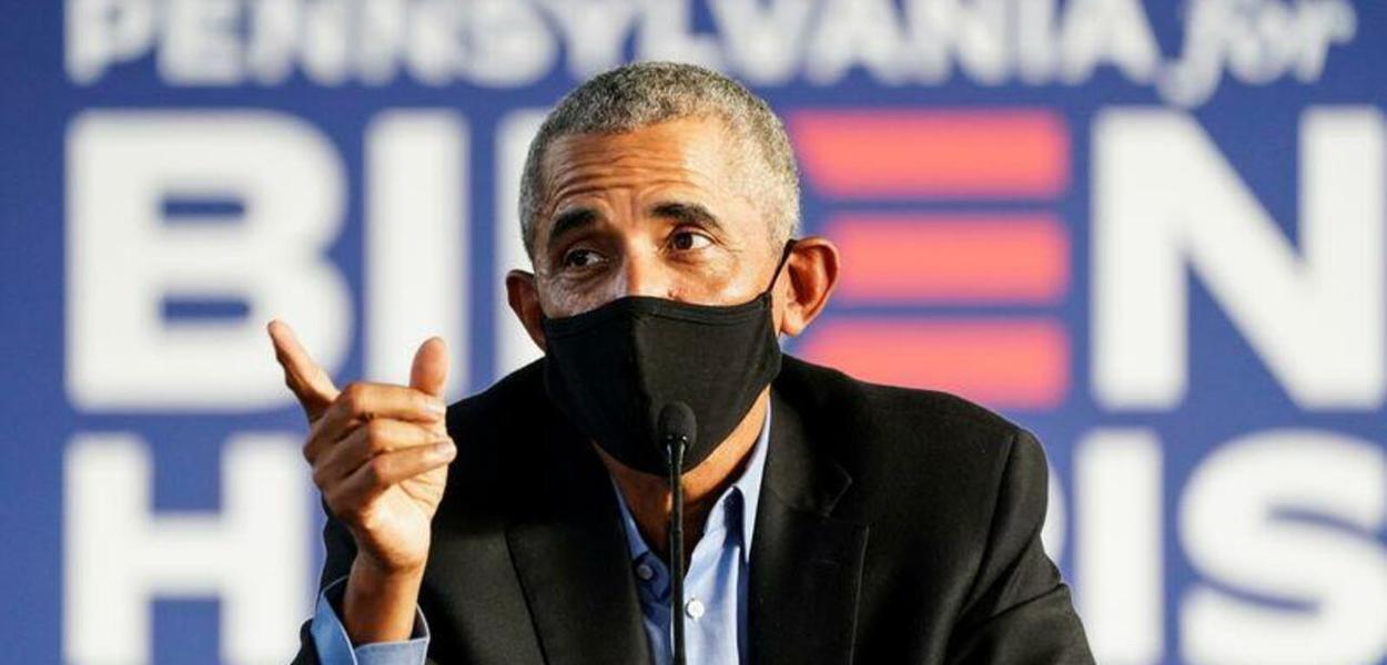 Ex-presidente dos EUA Barack Obama em ato de campanha para Joe Biden 21/10/2020