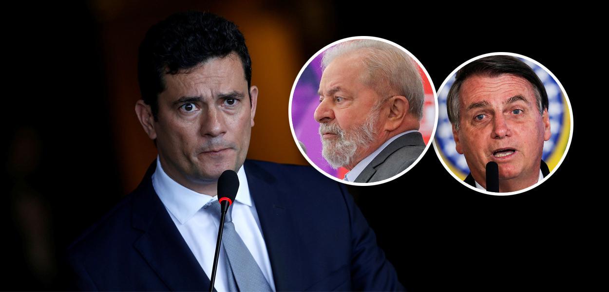 Sergio Moro, Lula e Jair Bolsonaro