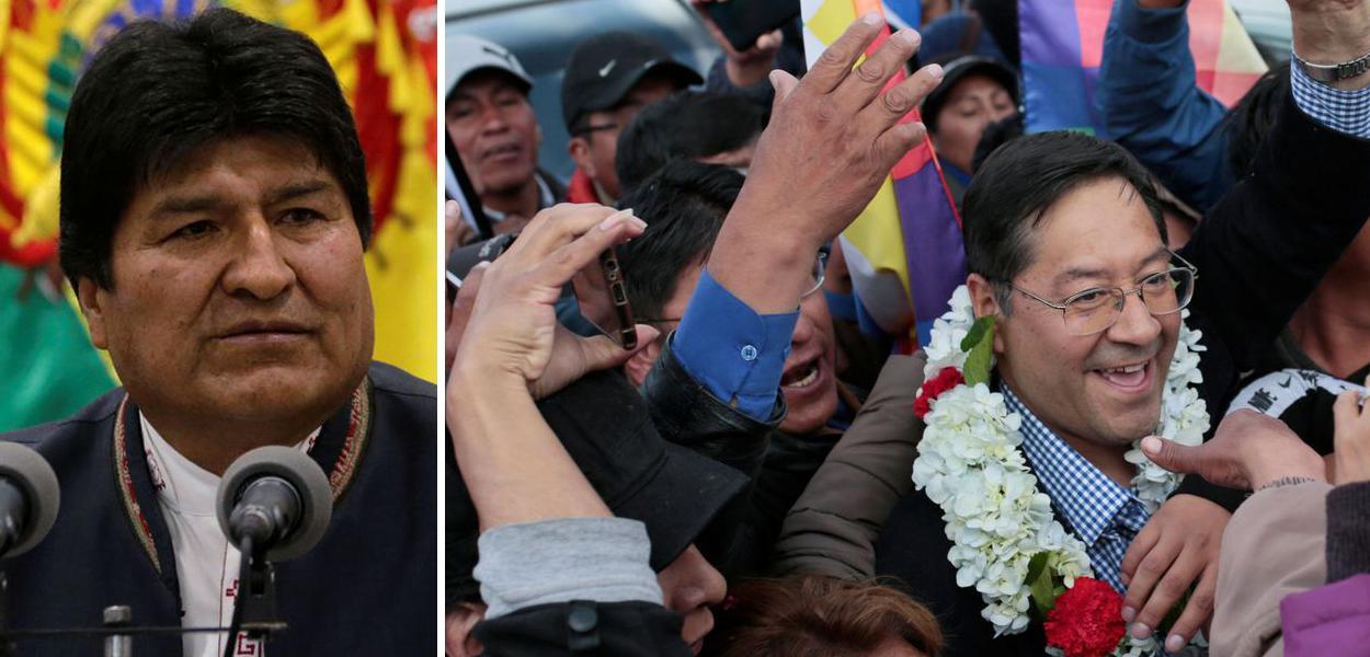 Evo Morales e Lucho Arce