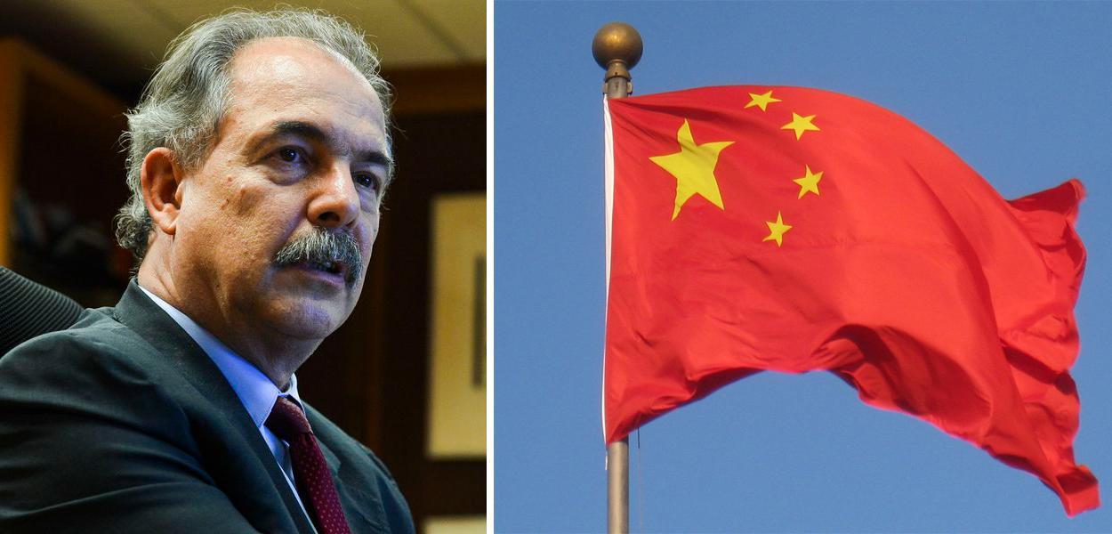 Aloizio Mercadante e bandeira da China