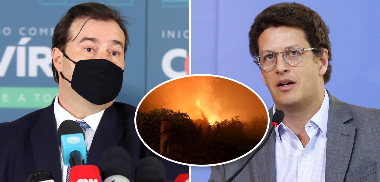 Rodrigo Maia, Pantanal em chamas e Ricardo Salles