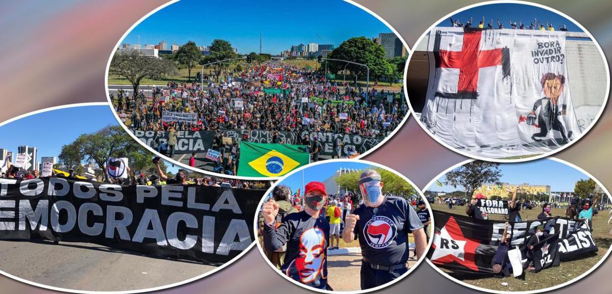 Manifestações de movimentos sociais antifascistas